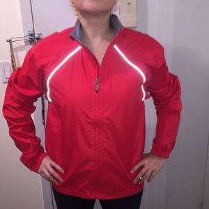 Novara Cycling Rain Women's Red Nylon Jacket L